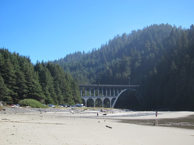 Hwy 101 Bridge, Near Heceta Lighthouse. Oregon Coast. September 30th, 2012