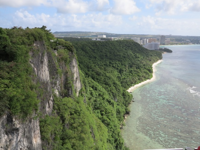 Guam, view of Tumon Bay from Two Lovers Point