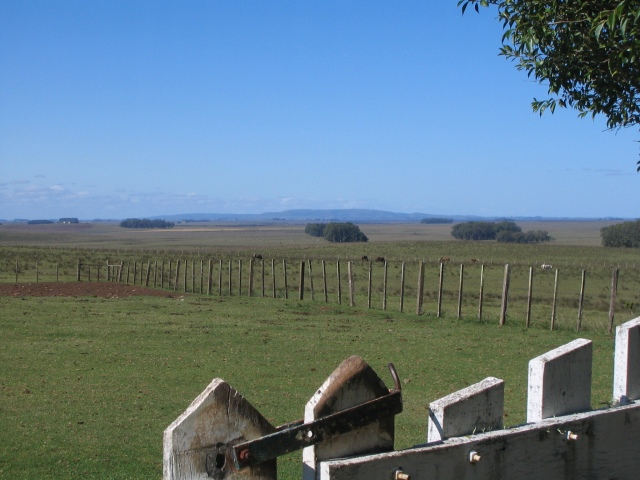 View of Serra do Acegua, the hills on the border with Brazil, 50 miles away. Rancho Las Flores, Uruguay, April 2006