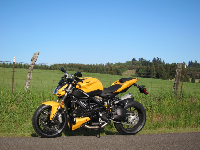 One of the first rides with the Ducati Streetfighter 848. May 16, 2012