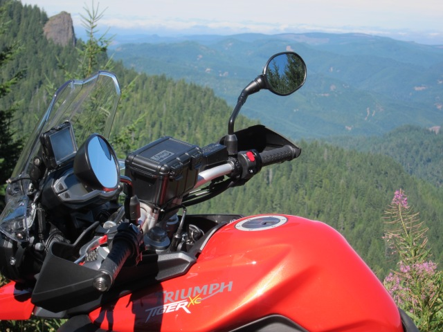 The Triumph and the nice views. August 26th, 2012