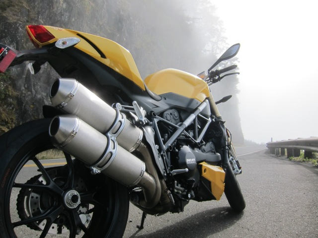 The Ducati Streetfighter 848 on Highway 101, Oregon, September 16th, 2012