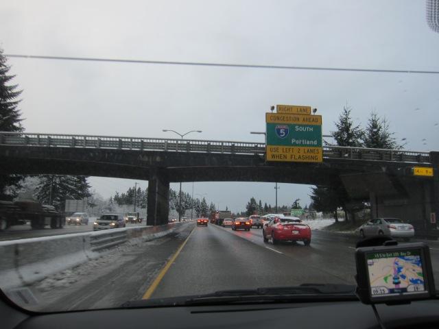 I-5 South of Tacoma, towards Olympia, Dec 18th, 2012