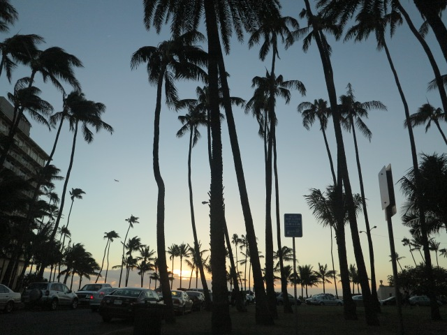 Sunset in Waikiki. December 11, 2012