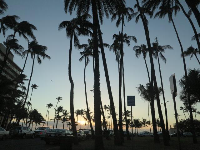 Sunset in Waikiki. December 11, 2012