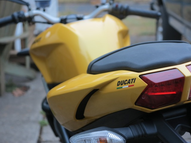 The last ride on the 848. October, 2012