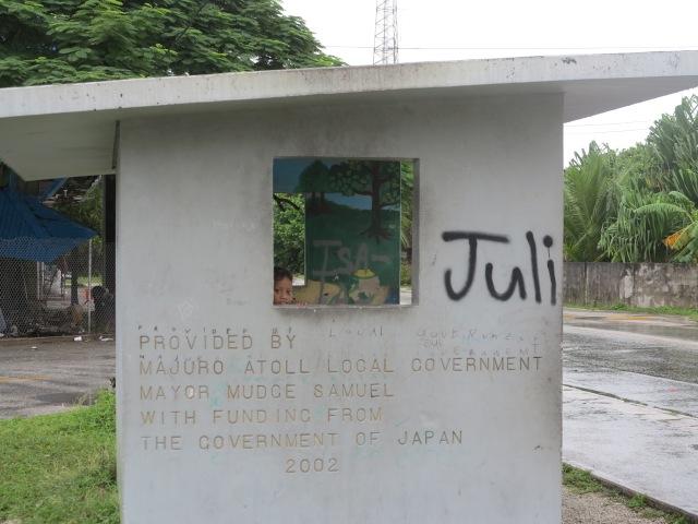 Bus stop, donation from Japan. Majuro, November 2012