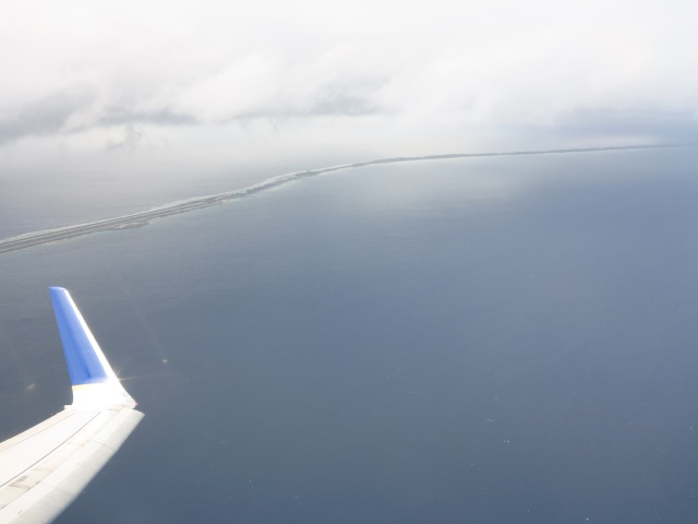 Majuro Atoll. Notice airport on the left. November, 2012