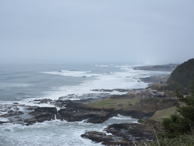 Looking north towards Yachats, Oregon coast.March 10th, 2013