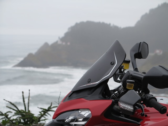 Tye Multistrada and the Heceta Light. March 10th, 2013