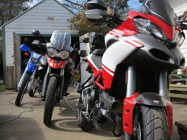 That Triumph has an intense look, the Multistrada is an acquired taste, the Yamaha is what it is...
