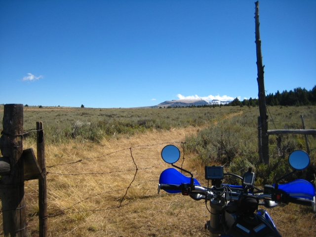 WR250R at the Steens Mountain, Oregon, on September 2010.