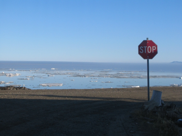 Interesting stop sign. Kotzebue, Alaska. June 2007.