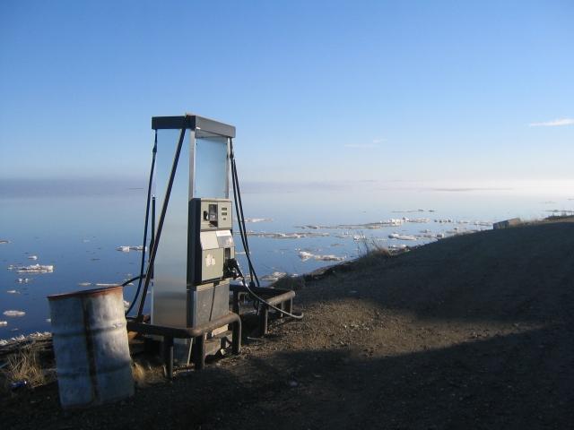 Gas Pump, Kotzebue, Alaska. June 2007.