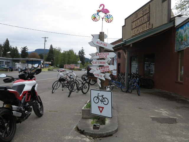 Willamette Valley Mercantile in Oakridge, Oregon.