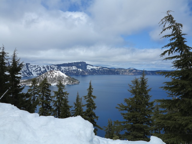 Crater Lake in the Spring. April 21st, 2013