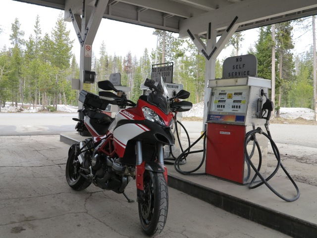 Non-ethanol fuel in Diamond Lake.