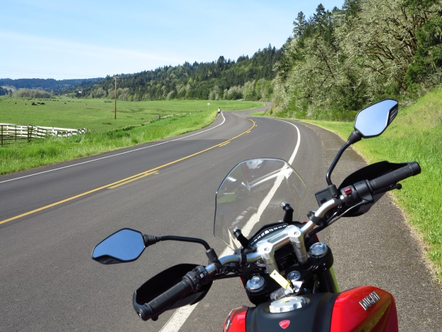 A picture perfect spring day in the valley and a nice motorcycle to put me in it