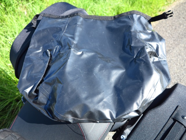 Dry bag inside each pannier