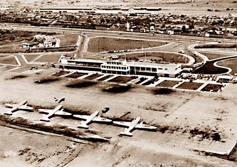 Aeroporto Internacional Salgado Filho, Porto Alegre. Photo from 1955