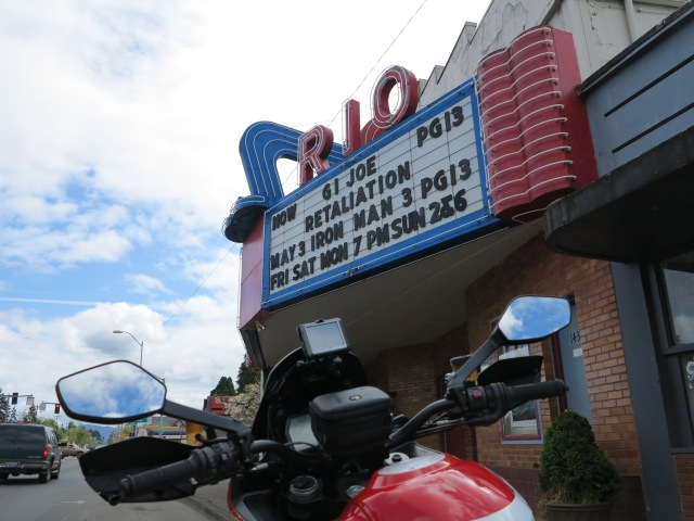 Rio Movie Theater, Sweet Home, OR. April 28th, 2013