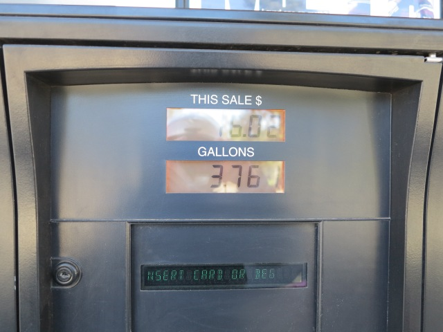 3.761 actual gallons consumed in 169.9 miles.
