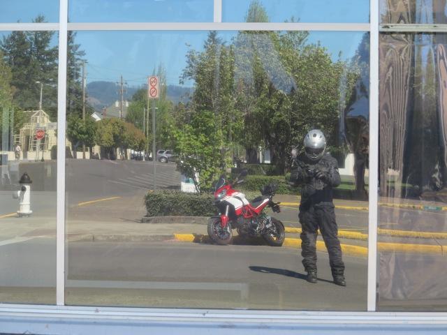 The man and his machine. Dallas, Oregon. May 5th, 2013