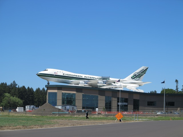 Boeing 747 on top of building, Evergreen Aviation Museum. McMinnville, OR. May 5th, 2013