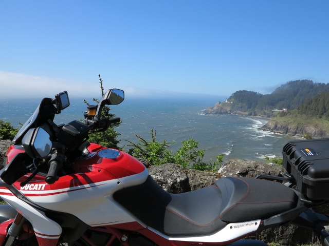 Same day, different look on the ocean. Heceta Lighthouse, May 5th, 2013
