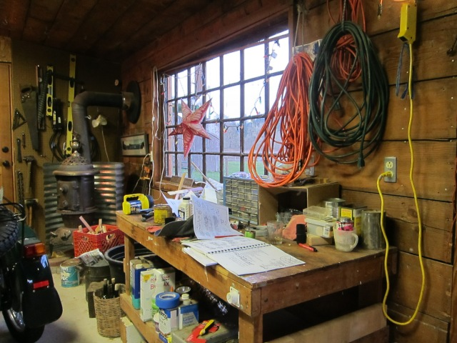 John's shed, photo from a January 2013 visit
