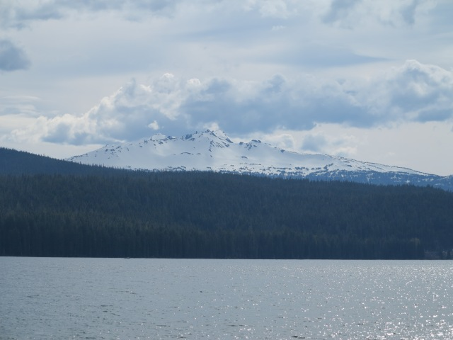 Diamond Peak as viewed from the north shore of Odell Lake. May 11th, 2013