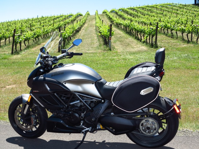 The Diavel in the wine country