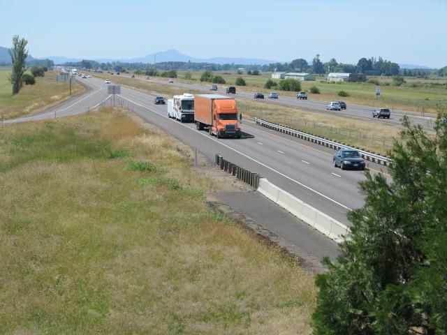 I-5 just north of Eugene