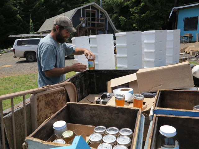 Local Honey, labeled on the spot!