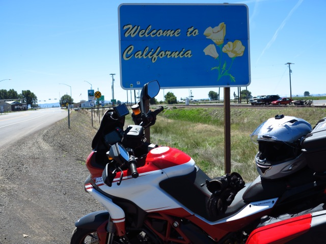 First time in California for the Ducati.
