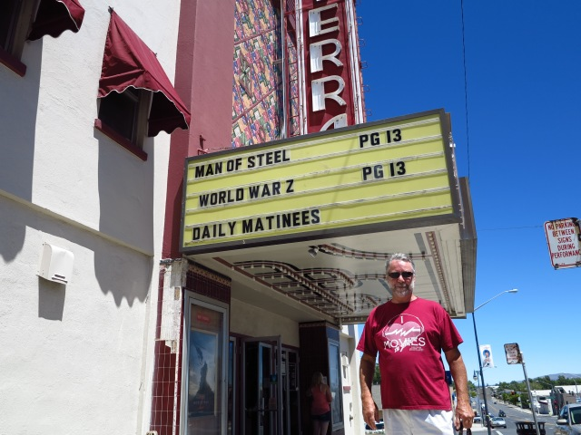 Movie Theater in Susanville and the proprietor