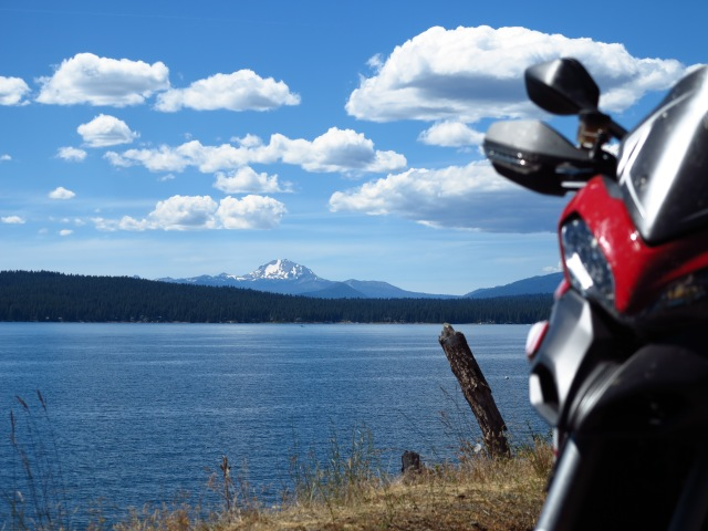 Lake Almanor with Lassen Peak on the background