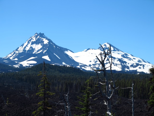 A clear view of two of the three Sisters - June 30th, 2013