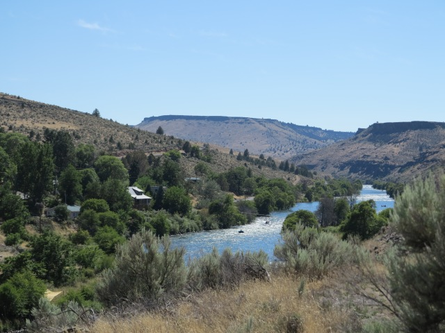 The Deschutes River in Maupin, OR