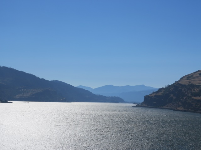 Looking west at the Columbia River