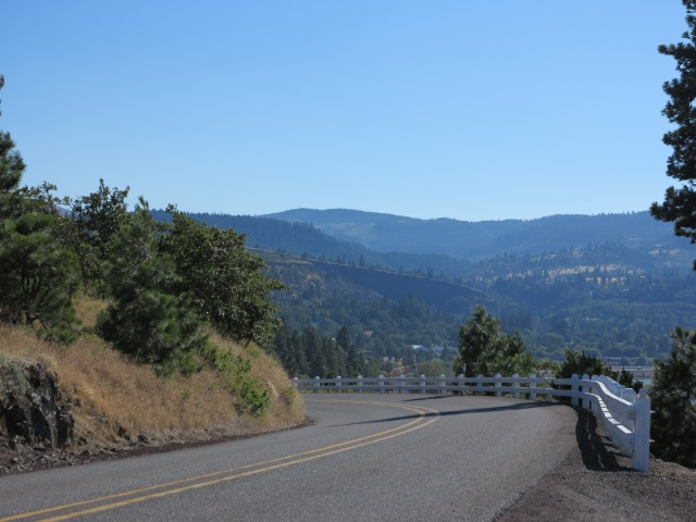 Highway 30 east of the Dalles