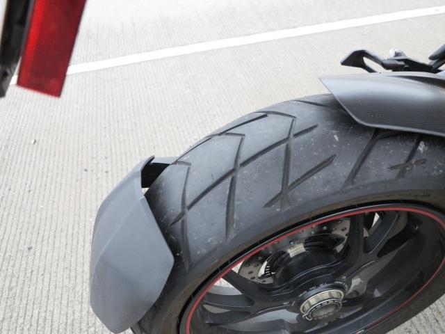 A small cut, the Pirelli tire said good bye.