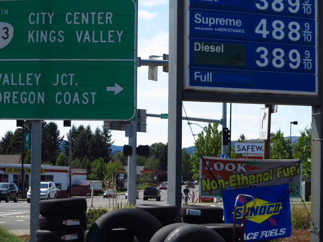 Kings Valey Road, and Non-ethanol gas
