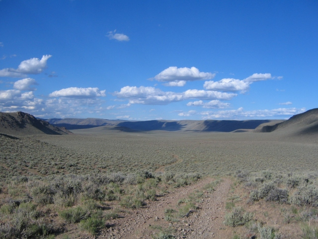 Entering Funnel Canyon. 2006 edition of the Lone Mountain Loop