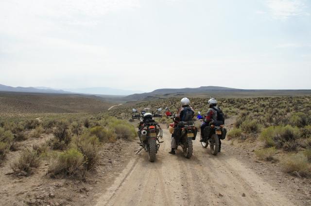 Los Tres Amigos (one taking the photo). Rincon Flat. Lone Mountain Loop. Photo courtesy Christian Abächerli