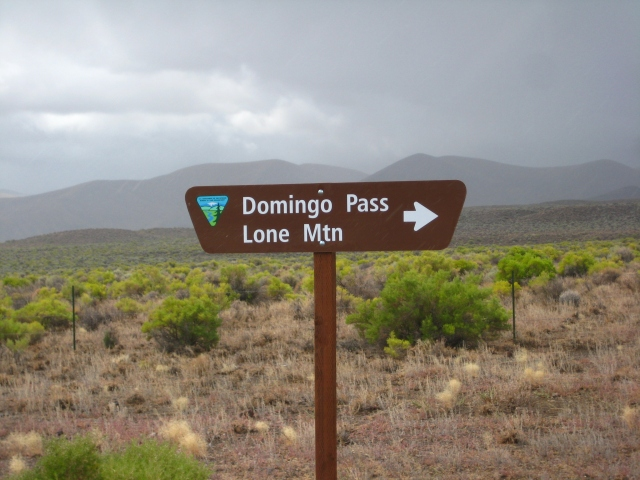 Domingo Pass, the start of the Lone Mountain Loop. 2010 Edition.