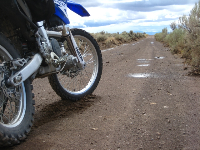 A quick stop for a photo. Rincon Flats, Lone Mt Loop, 2010 Edition