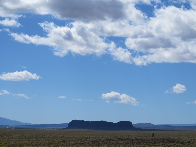 Fort Rock under a cloud