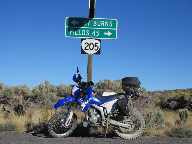 I made it to 205, a few miles of pavement going north towards Frenchglen.
