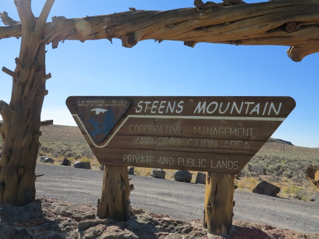 Sign at the entrance on the south access road